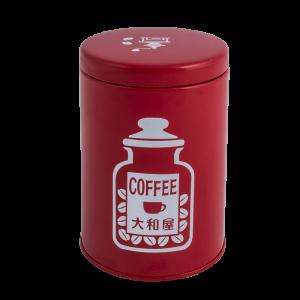 オリジナル珈琲豆保存缶 ( 赤(つや有) )