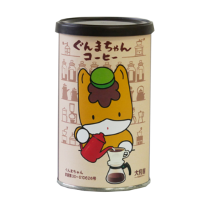 ぐんまちゃん ギフト缶入りコーヒー(大和屋ぶれんど)